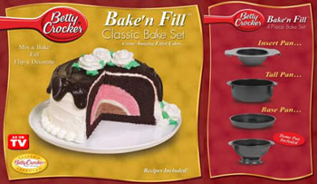 BETTY CROCKER BAKE 'N FILL DELUXE CAKE SYSTEM