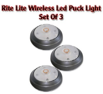RITE LITE WIRELESS LIGHT - SET OF 3